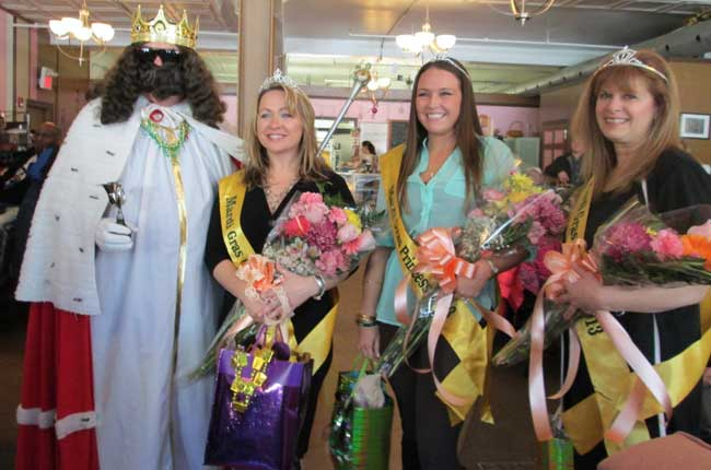 King Jace XIX, Queen Sandy Paul, and Pricesses Kayla Guilbeault and Jo-Ann Maurice